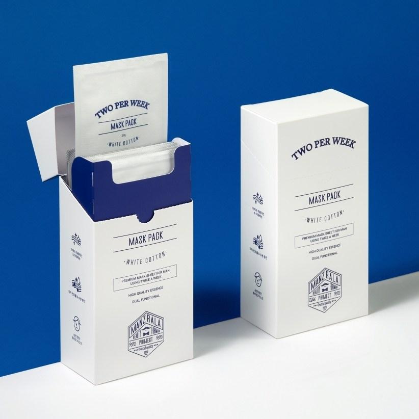 [1+1] 맨즈랄라 투퍼윅 마스크팩 - 1주 2팩 남자 마스크팩 미백 주름개선 기능성 남자팩