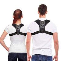 남녀 등 자세 교정기 - 목 등 어깨의 통증을 완화시켜주는 편안한 상등 지지 쇄골 지지 장치 - 조절 가능한 어깨 지지대(왼쪽), 상세페이지 참조