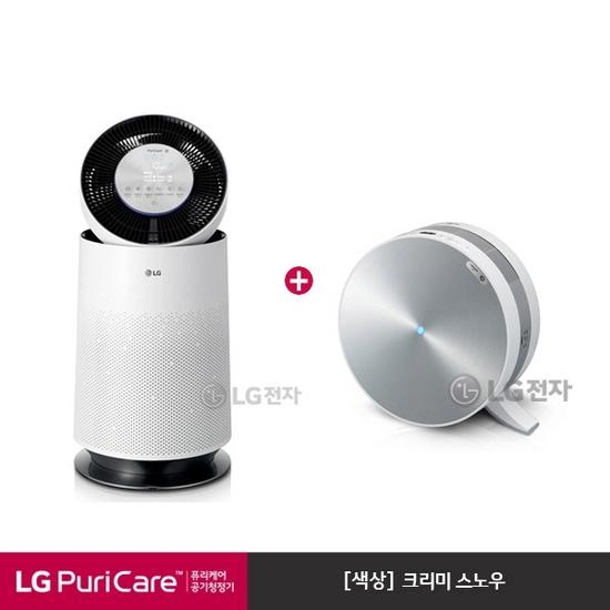 [K쇼핑]LG 퓨리케어 360도 공기청정기 AS190DWFA+AS120VSKA 세트모델