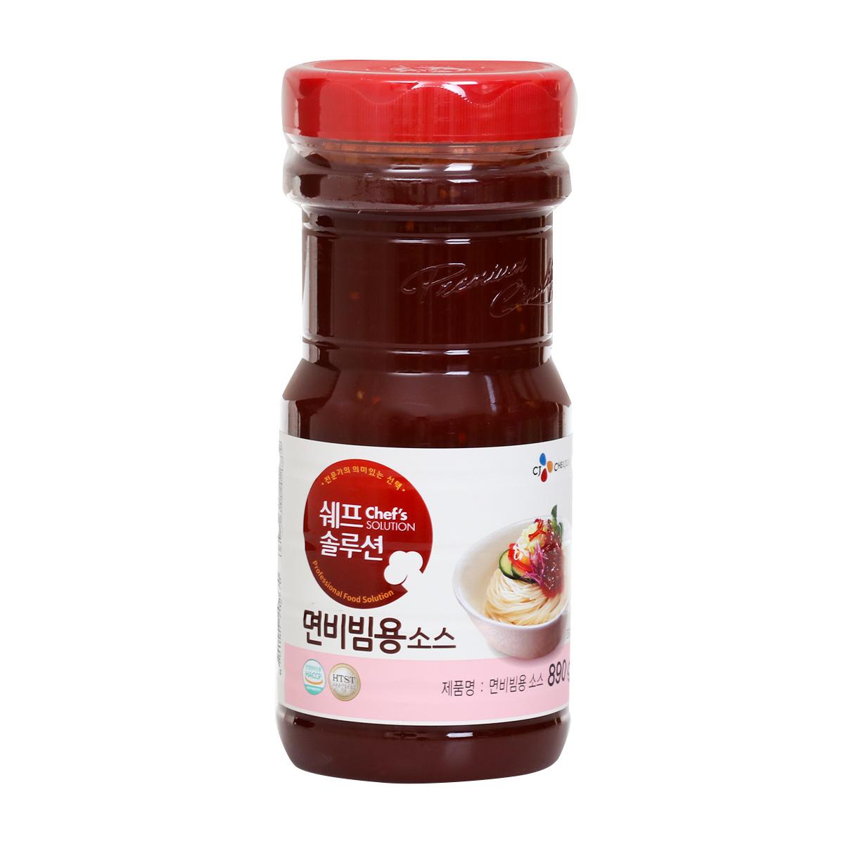 예이니종합물류 CJ 면비빔용 소스 2개(890g*2개)쫄면냉면국수요리양념장 즉석간편식품 비빔소스 국수장 조미료 양념, 890g, 2개