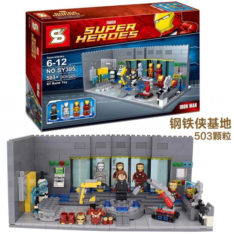 슈퍼히어로 아이언맨 슈트케비닛 레고 중국호환블럭, 옵션 04