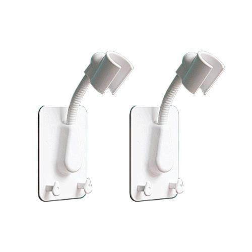 홈바내쓰 샤워기걸이 각도조절 샤워기거치대 접착식 욕실걸이 1+1, 화이트