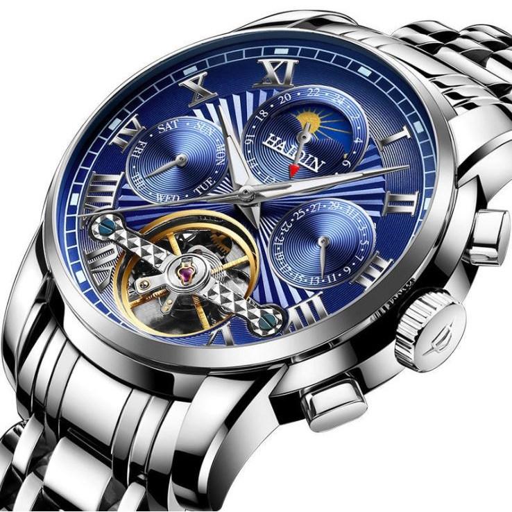HAIQIN 문페이즈 남자시계 오토매틱시계 남성시계 손목시계 명품시계 8508-30-1715480602