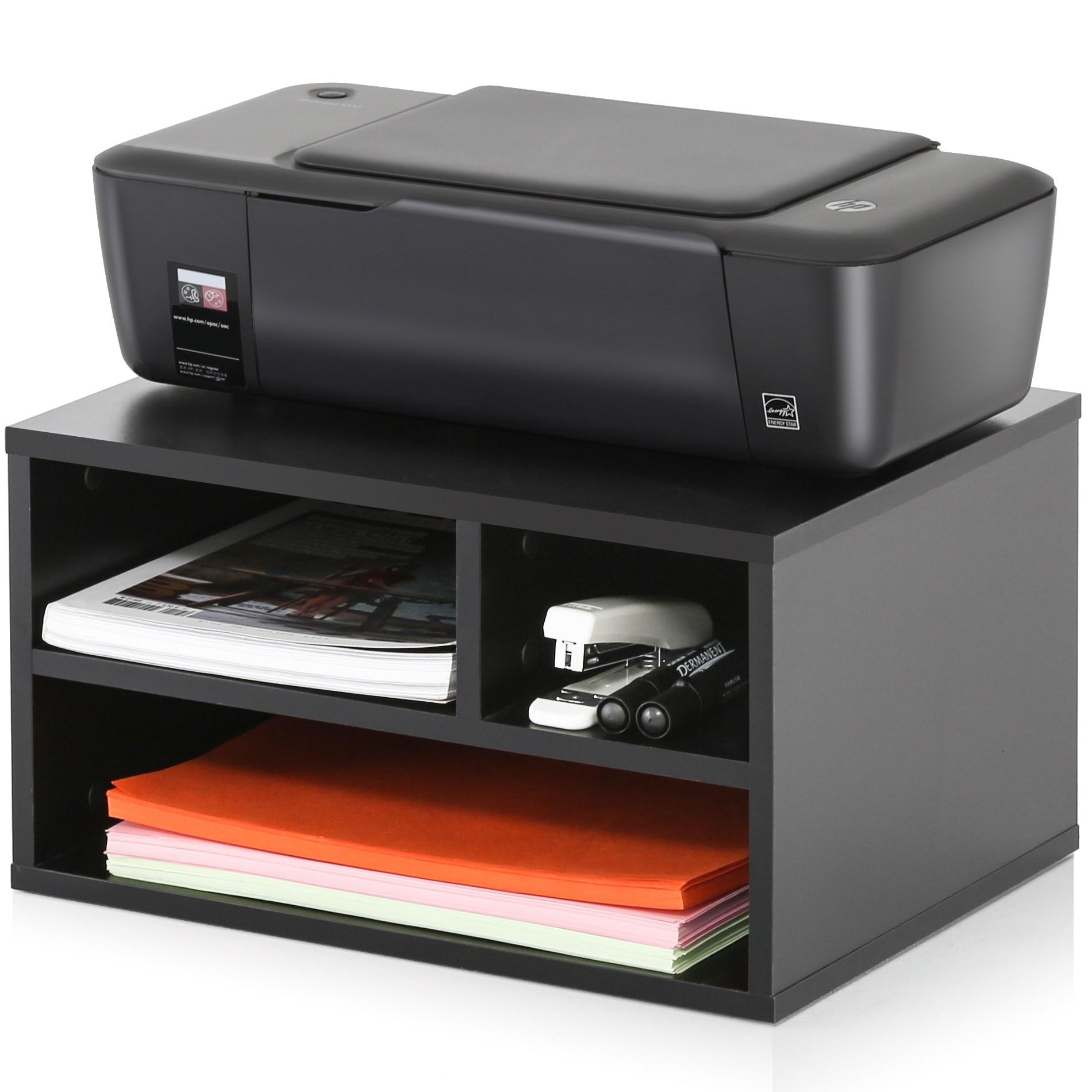 FITUEYES 프린터선반 프린터받침 프린터스탠드, 블랙 DO304001WB