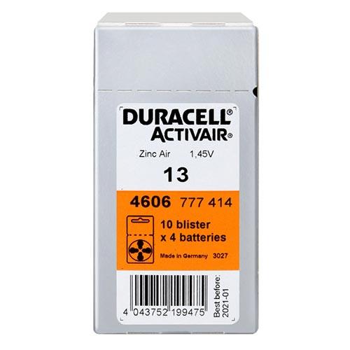 듀라셀 스타키 3통구매시 사은품 보청기배터리건전지 스타키보청기밧데리공용 배터리, 40입, 듀라셀13A