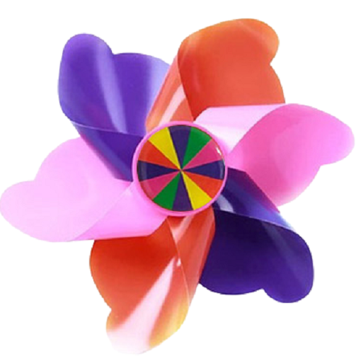 셀마켓 유아 킥보드 악세사리, 8. 핑크핑크바람개비(핸들형)