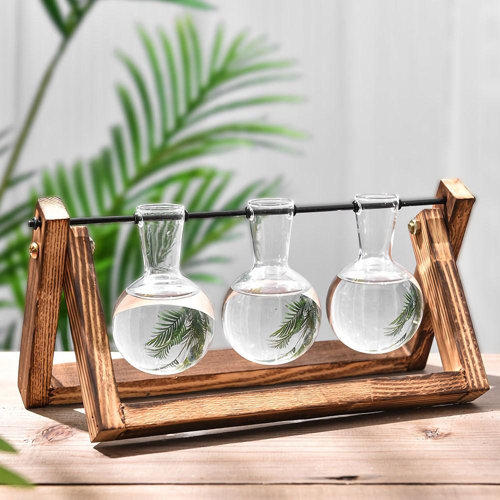 포스아트 수경재배 유리병 화분 레트로(3구) CN 수경식물 화병