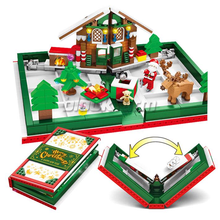 601094 크리스마스 선물책 중국레고호환조립블럭 작동 연인 어린이 친구 산타 싼타 작동