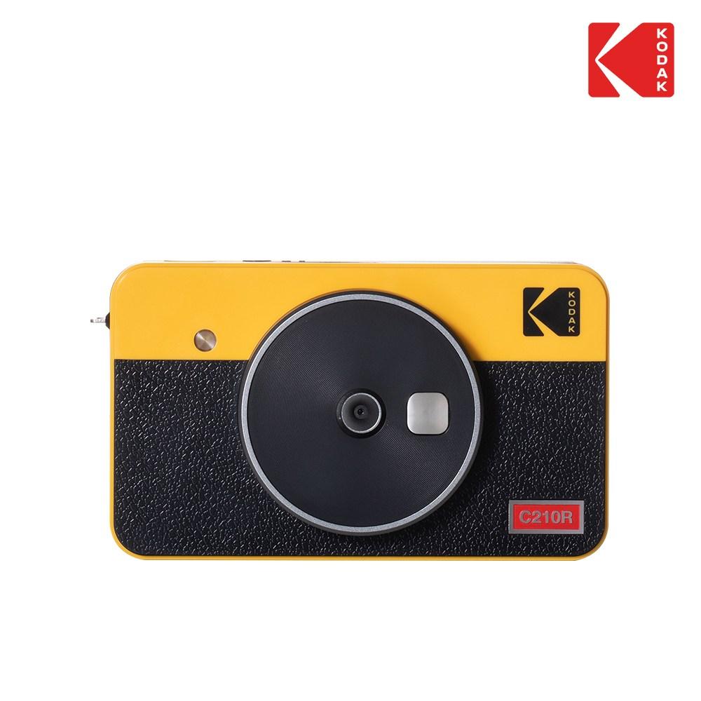 코닥 미니샷 2 레트로 폴라로이드 카메라, 1개, yellow-3-1228350424