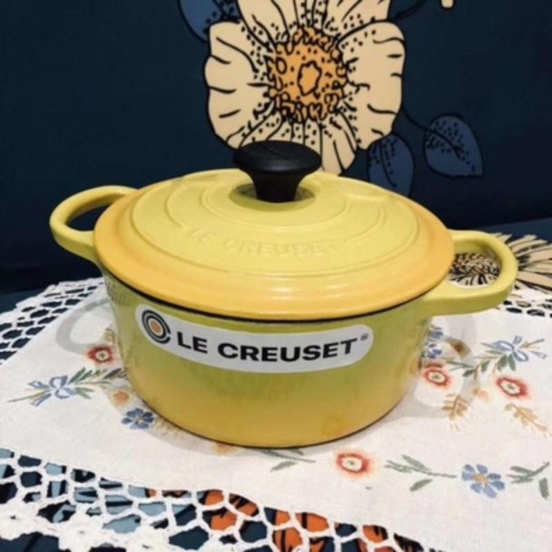 주물 양수냄비 에나멜코팅 18cm 미키마우스 4색, 노랑