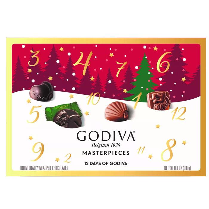 고디바 마스터피스 초콜릿 홀리데이 2020 어드벤트캘린더 98g / Godiva Masterpiece 12 Days of Godiva, 옵션없음, 옵션없음