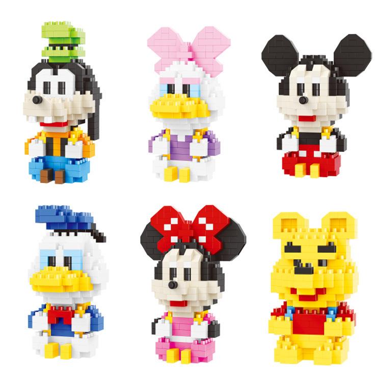 나노블럭 디즈니 미키 미니 도널드 6종세트, 디즈니6종세트