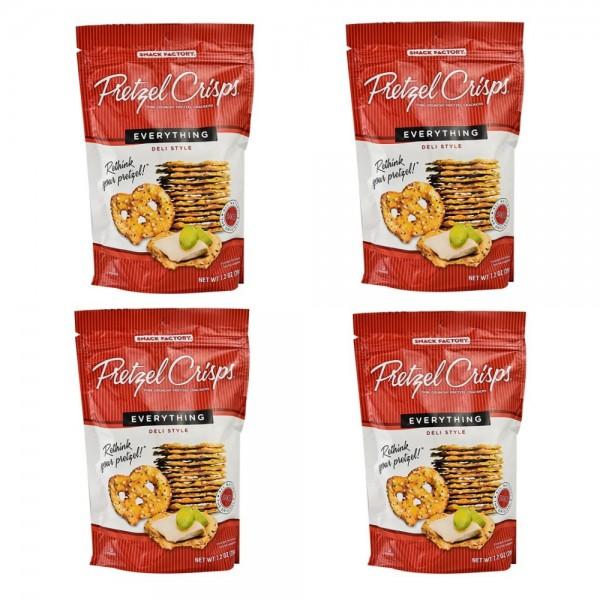 Snack Factory Pretzel Crisps DeliStyle Everything 스낵팩토리 프레첼크리스프 델리스타일 204g 2개입2팩, 단일상품
