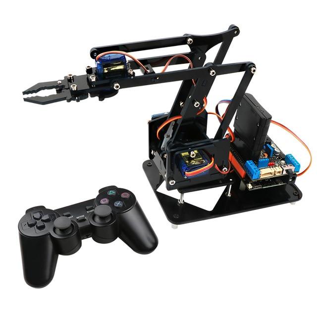 Arduino R3 높은 경도 아크릴 지원 Scracth 프로그래밍 PS / 2.4G 무선 제어에 대 한 Keywish Diy 로봇, 02 Arm kit with Ps2