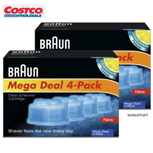 BRAUN 클린 앤 리뉴 면도기 세정액, CCR (4개입)x2