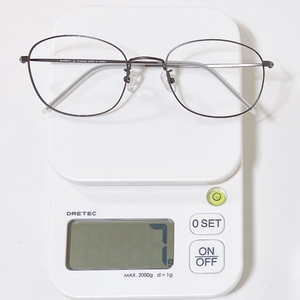 GLASSES-J 가벼운 7g 국산 수제 베타티타늄 다각형 안경테 (블루라이트 차단렌즈)