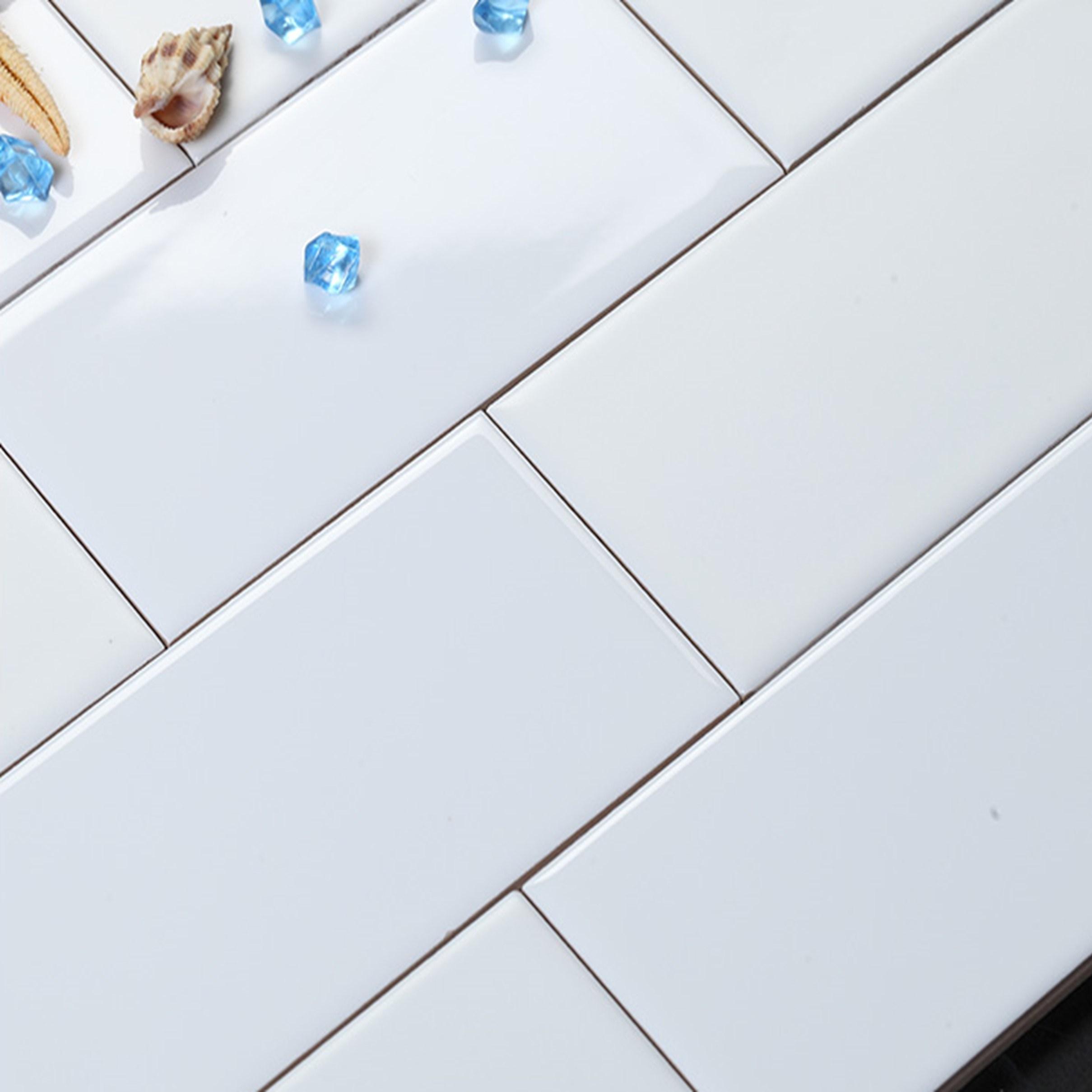 이레타일 도기질타일 주방벽타일 욕실벽타일 매장벽타일 화장실벽타일 벽타일 (100X200), 화이트(민자) 25장