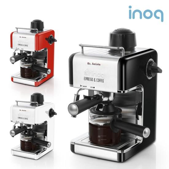 이노크아든 에스프레소 커피머신 IA-CE1000/최대4잔 스팀기능, 블랙