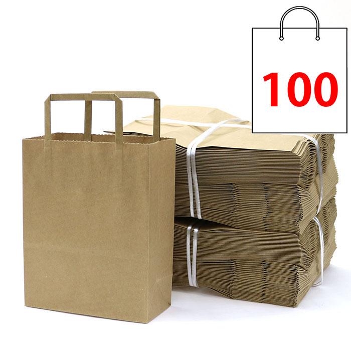 애브리플러스 크라프트 종이쇼핑백 종이가방 100매
