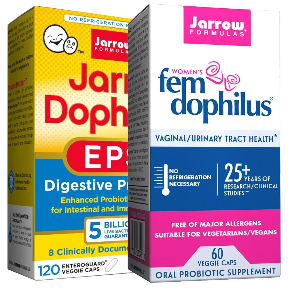자로우 EPS 유산균 50억 120캡슐 + 여성 펨 도피러스 10억 60캡슐, 2개