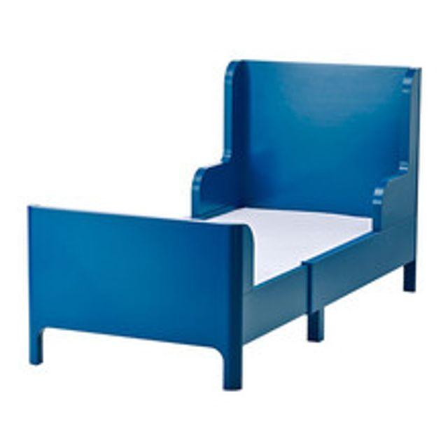 이케아 BUSUNGE 길이연장침대 어린이 80x200 블루 싱글프레임 원룸 일체형, 상세페이지참조()