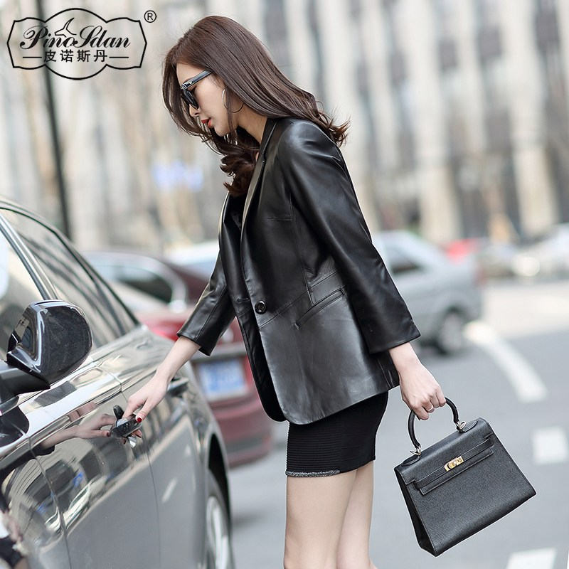 G610056 여성양가죽자켓 라이더자켓 Stan Pino new winter Haining leather leather women sh