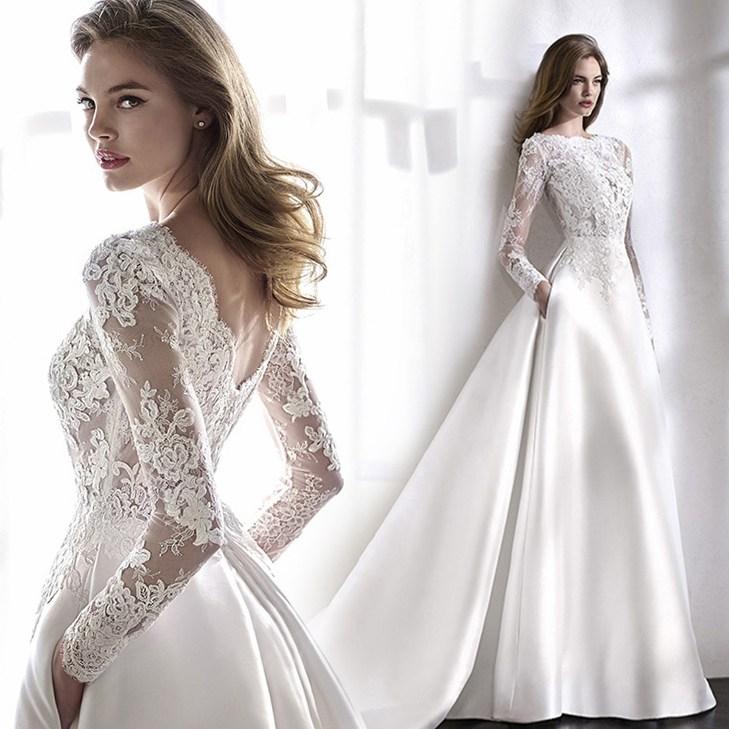 셀프웨딩드레스 블랙 퀸 법식 로맨틱 신부 겨울 긴팔 빅트레인 결혼예복 w6267