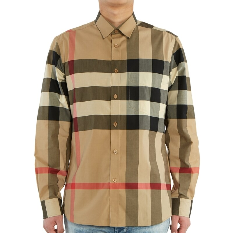 [Burberry][버버리] 체크 SOMERTON 8010213 A7028 남자 셔츠