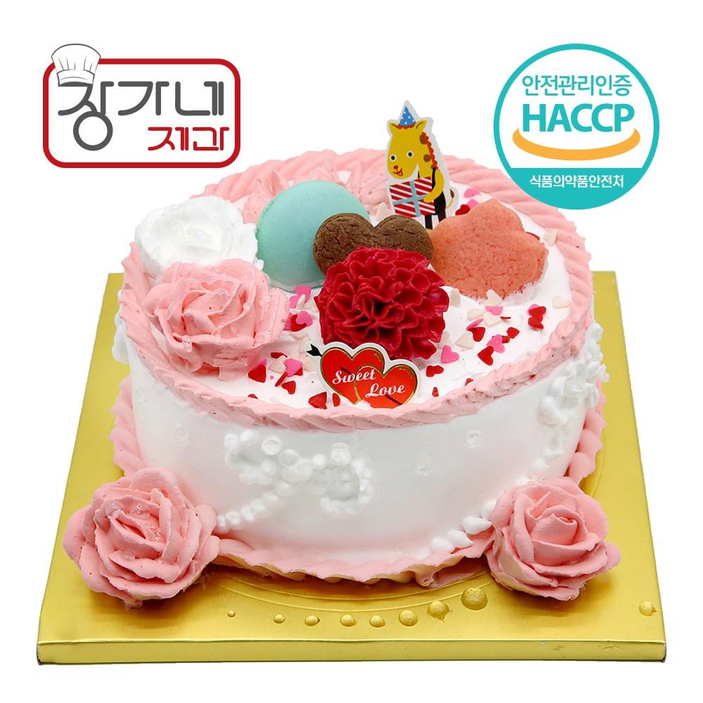 장가네제과 케익재료세트 카네이션케이크만들기(1호)(레드벨벳시트), 1set