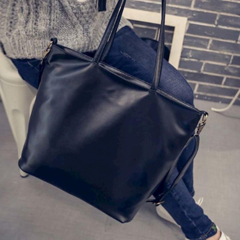 여성가을 가방 쇼퍼백 빅숄더백 검정색 캔버스에코백 가을숄더백 여성토트백