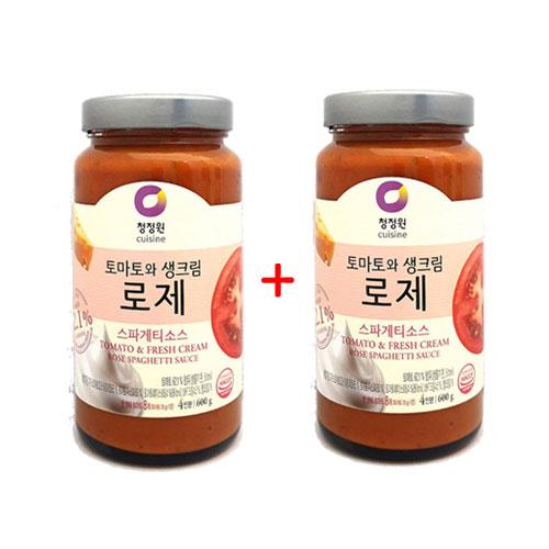 1+1 [조이스몰] 청정원 [쉐프추천] 로제스파게티소스600g, 1세트