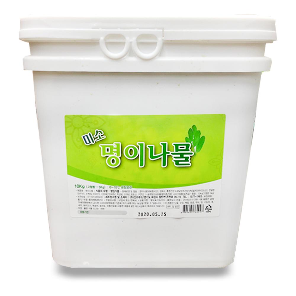 맛사랑식품 미소 명이나물 10kg 1통 대용량