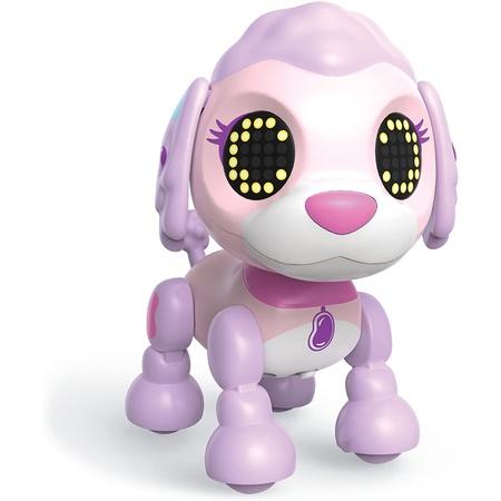 Zoomer Zupps Tiny Pups Poodle Jellybean Litter 3-조명 소리 및 센서가 포함 된 대화 형 강아지 PROD, 한 가지 색