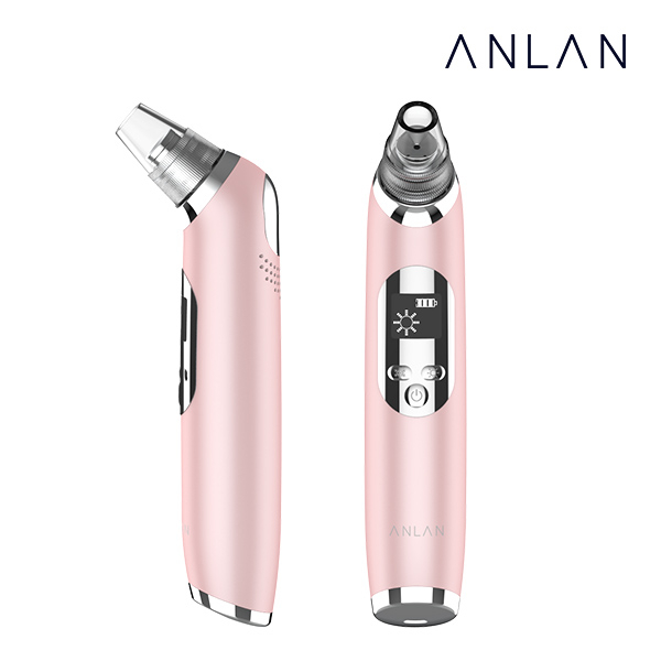 ANLAN 블랙헤드 제거기 피지흡입기 냉온 기능추가 업그레이드버전, 1개, 핑크