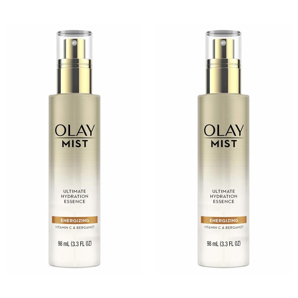 올레이 Olay Energizing Face Mist with Vitamin C 98ml 하이드레이션 에센스 에너자이징 미스트 2팩, 1개, 1ml