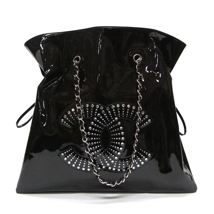[뉴욕명품] Chanel(샤넬) 가방 크리스탈 블랙 페이던트 봉봉 체인 숄더백(13번대)