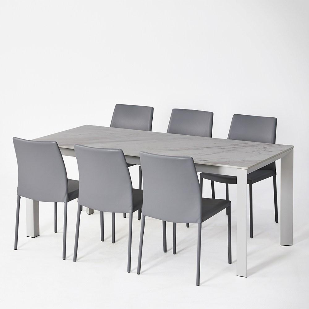 [까사미아] 파스토)6인식탁세트WH (투토체어 6EA)