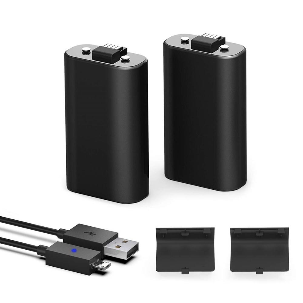 by YAEYE Xbox One 컨트롤러 배터리 팩 용 1200mAh Ni-MH 충전식 [2팩] 5ft 마이크로 USB 충전 케이블, 1개, 단일상품