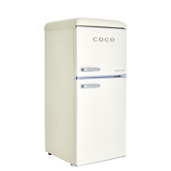 [COCO] 코코일렉 소형 2도어 레트로 냉장고 117L CRB12CD