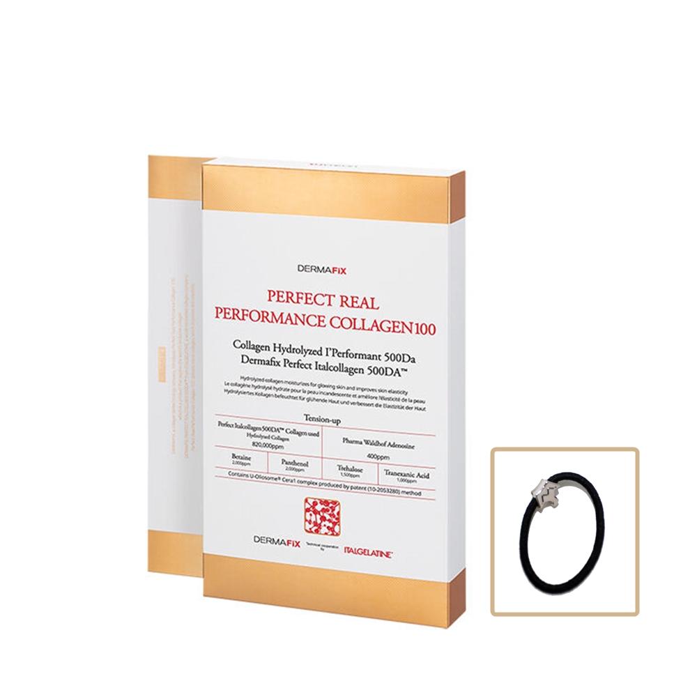 더마픽스 콜라겐 마스크팩 시즌2 퍼펙트 리얼 퍼포먼스 콜라겐100 1박스(8매) + 머리끈, 1box, 8매