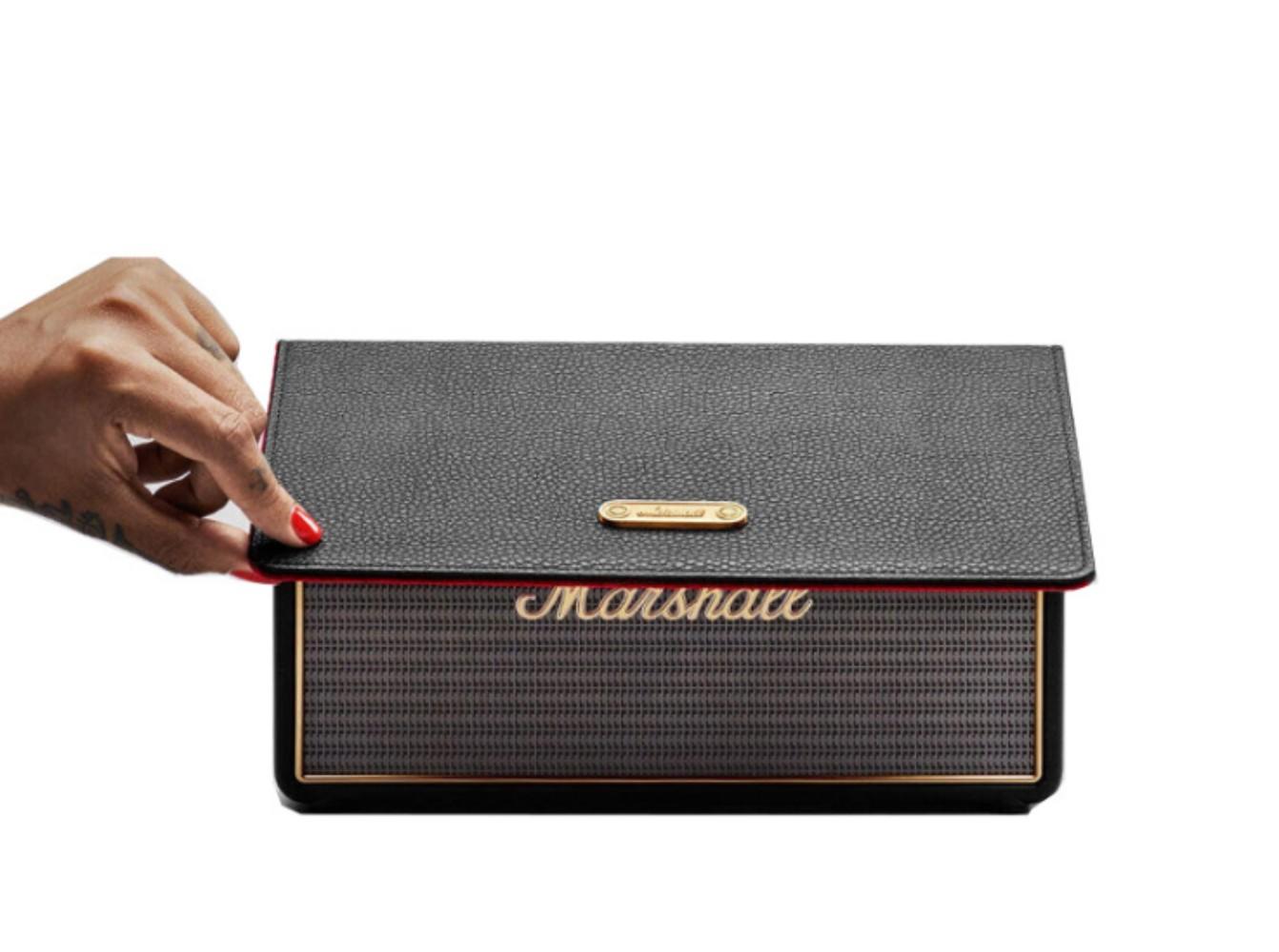 마샬스톡웰 고급 블루투스스피커 무선 레트로 클래식 심플 휴대용, 표준 + Stockwell+가죽케이스+오디오케이블
