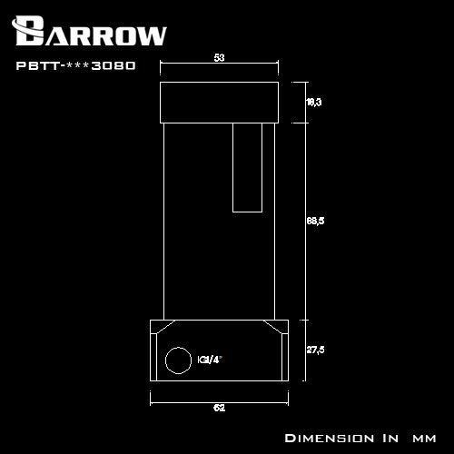 [해외] 배 로우 워터 쿨러 블랙, PBTT-BBB3080