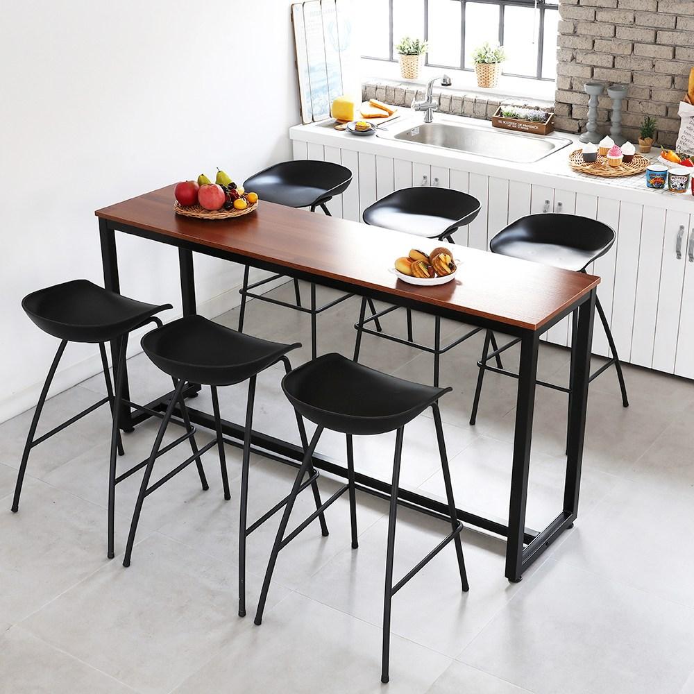 THEJOA [더조아] 홈바테이블 높은테이블 카페 인테리어 아일랜드식탁 홈바테이블 콘솔, 1800 멀바우