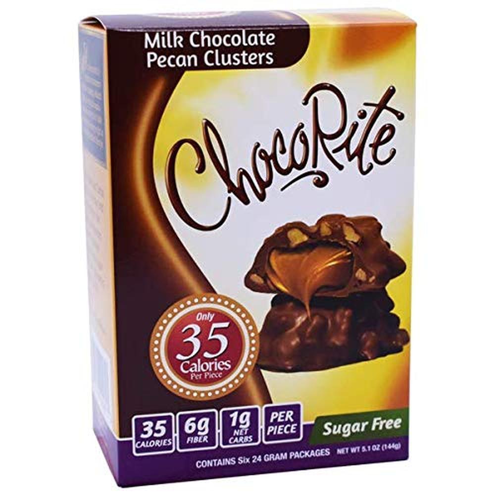 미국직구 Cookies 초콜릿 초콜릿 밸류 팩 -6 24 그램 바-설탕 무첨가-조각 당 35 칼로리 (밀크 초콜릿 피칸 클러스터), 상세참조, 수량