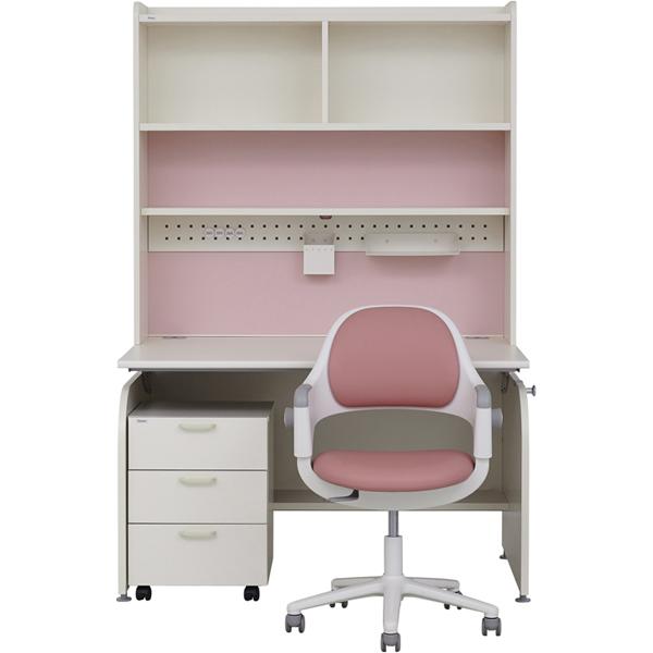 일룸 [SET] 링키 서랍형 책상세트 + 시디즈 링고의자, 아이보리+핑크:인조가죽-핑크