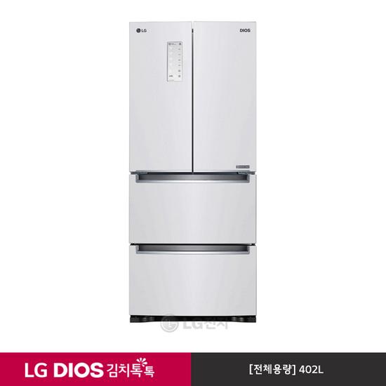 [K쇼핑][LG] DIOS 김치톡톡 스탠드 김치냉장고 K419W11E (402L), 단일상품