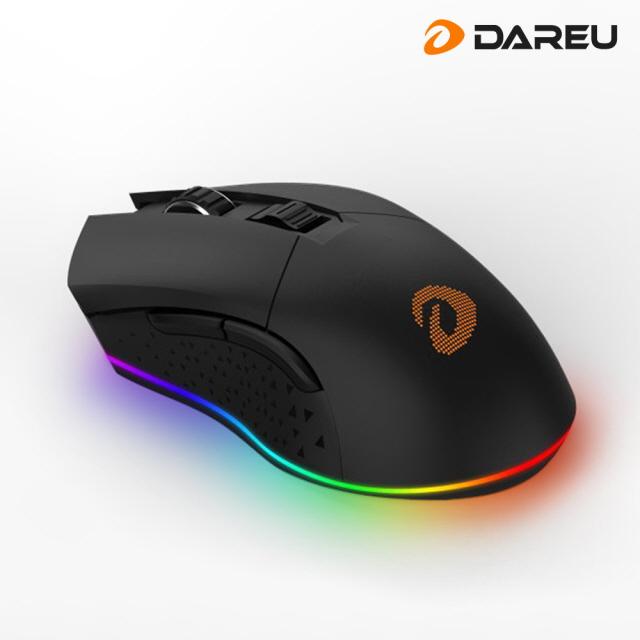 [무료배송]다얼유 EM901 RGB 게이밍 무선 마우스 블랙, 단품, 단품