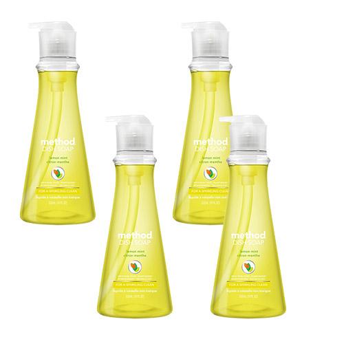 메소드 왕뽀득 주방세제 레몬민트향, 532ml, 4개입