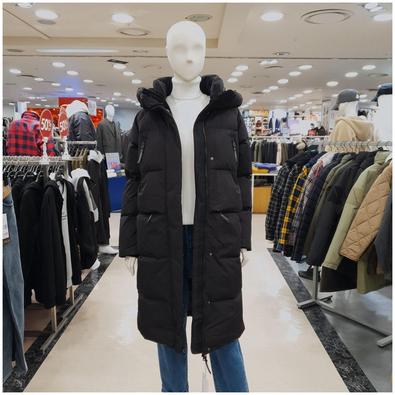 클라이드 - C02 여성 *고민하면품절 단독한정특가* 매일 입게 되는 따뜻한 다운 롱패딩 NCBKFJDDU951F