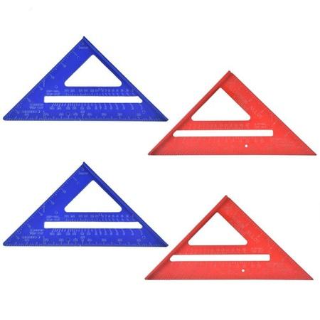 Fictor 2 개의 7 인치 알루미늄 앵글 삼각형 눈금자 방청 각도기 목공 공구 페인트, 상세 설명 참조0, One Color